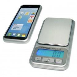 DIPSE XP500 - Schutzdeckel in Smartphone-Optik und Wiegefläche mit Anzeige und Bedienungstasten.