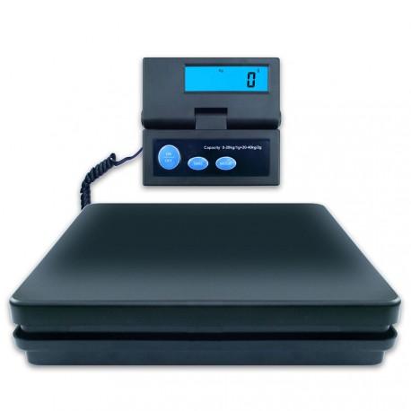 DIPSE SE - Digitale Paketwaage. Wiegefläche und externes Display.