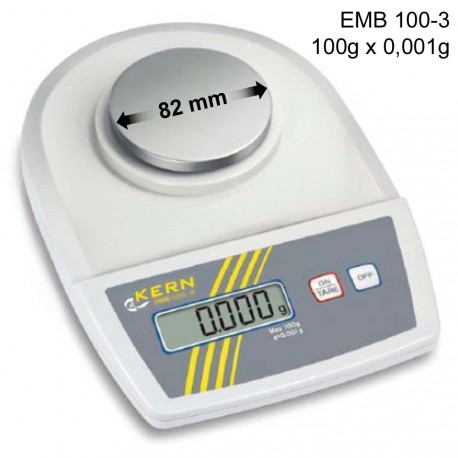 Kern EMB 100-3 - Wiegefläche 82mm