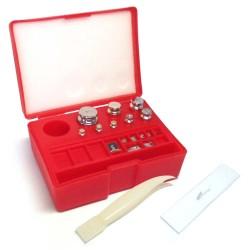 Prüfgewichte Set - Aufgewahrungsbox mit Gewichten und Pinzette