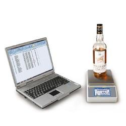 KERN Stockmasterwaage SMT - Flasche und Laptop nicht im Lieferumfang enthalten.