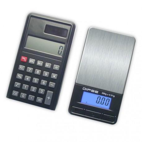 DIPSE CA Serie - Digitale Taschenwaage. Schwarz 300 x 0,01g.