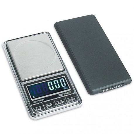 DIPSE USB - Digitale Taschenwaage mit Schutzdeckel im flachen Smartphone_Format.