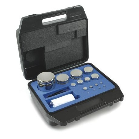 322-024   F1  Gewichtsatz Kompaktform, 1 g - 50 g Edelstahl,  im Kunststoffkoffer  -  Kern Waage