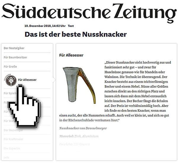 Nussknacher Drosselmeyer Testsieger - Süddeutsche Zeitung