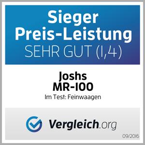 Joshs Mr-100. Preis-Leistung-Sieger im vergleich.org Feinwaagen Test 2016.