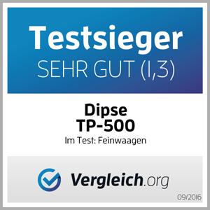 DIPSE TP-500. Testsieger im vergleich.org Feinwaagen Test 2016.