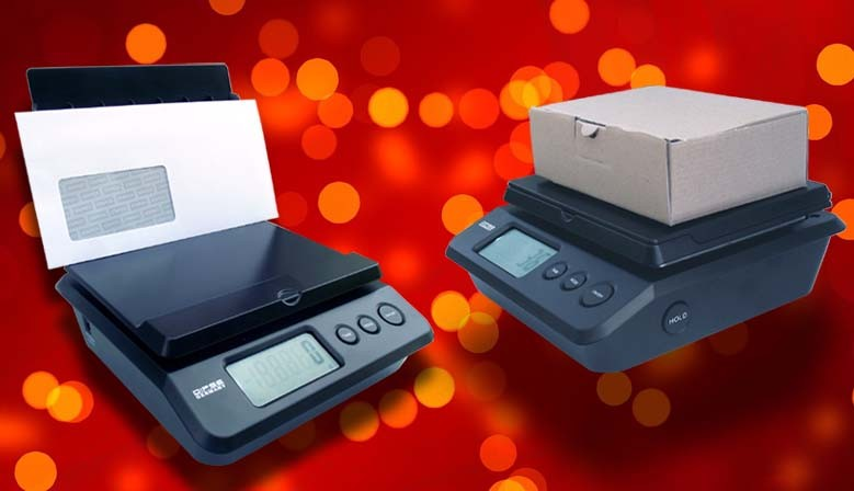 DIPSE Parcel Letter - Digitale Briefwaage mit aufstellbarer Wiegefläche.